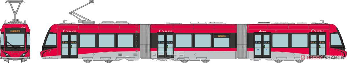 福井铁道F1000形福库姆粉红色
