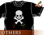 OT0476  海盗钢弹 骷髅 T-shirt 黑色 L