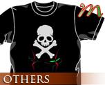 OT0475  海盗钢弹 骷髅 T-shirt 黑色 M