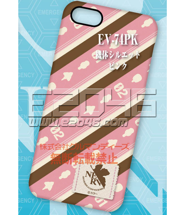 Rebuild of Evangelion Character Jacket for iPhone5 Pink