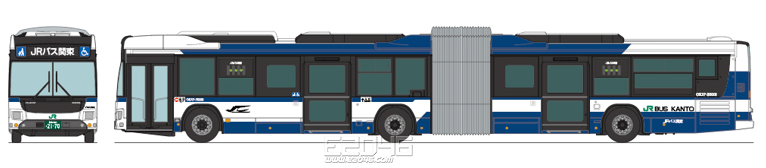 JR Bus Kanto Articulated Bus