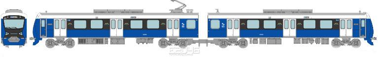 Shizuoka Railway Type A3000 Elegant Blue 2 Car Set F