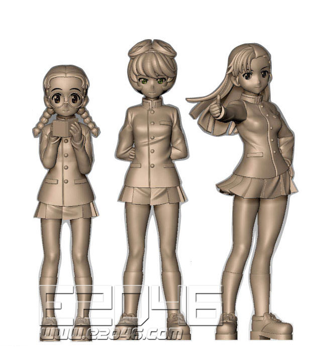 Chihatan Academy Figure Set School Uniform Version