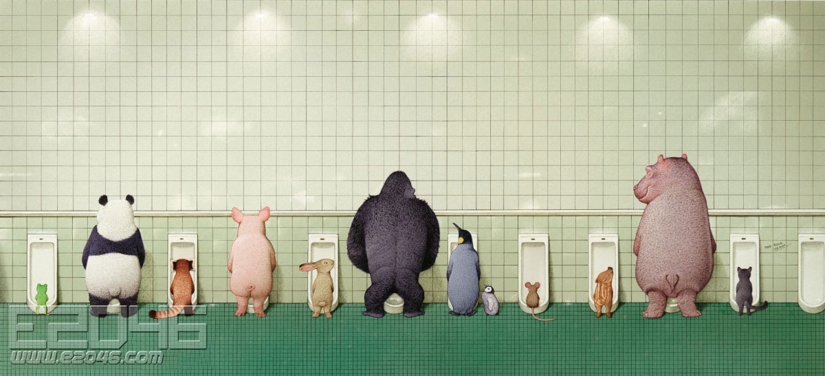 Sato Kunio's Animals Bathroom in Groups 2