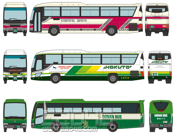 The Bus Collection New Chitose Airport Bus Set A