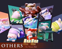 OT2756  Piggy LuLu The Fitness Club Series