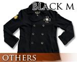 OT0123  Gundam Zeon Design Pea Coat Black M