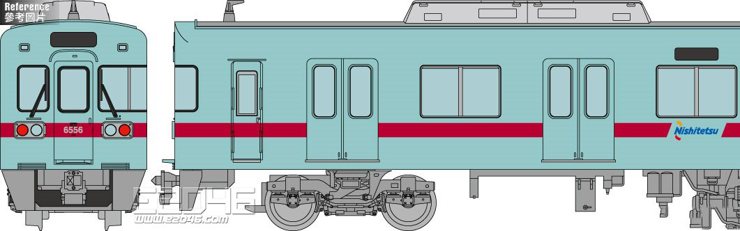 Railroad Type 6050 Renewal Version 6156 Formation Additional 3 Car Version