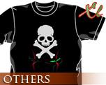 OT0477  海盗钢弹 骷髅 T-shirt 黑色 XL