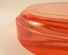 AC1688  Acrylic Base Round D11 Red