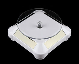 AC2649  White Rounded Auto Rotating Display Base D9