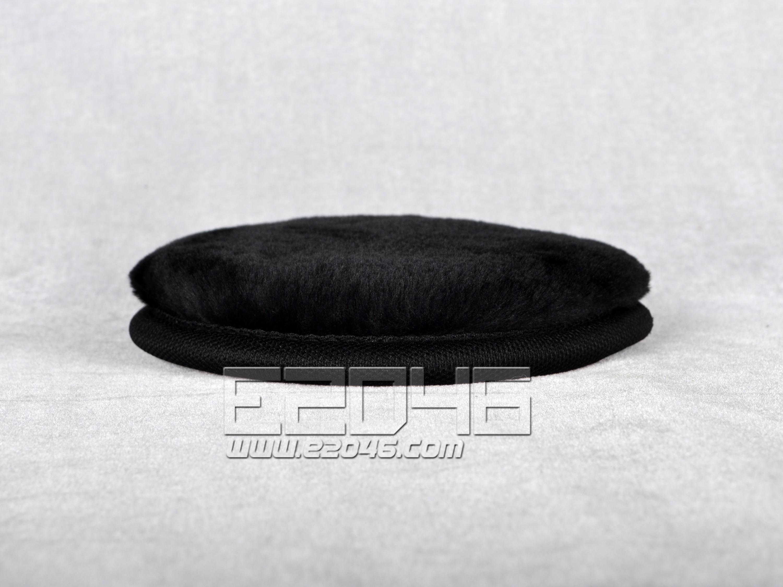 Black Round Fluff Blanket D15