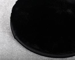AC2391  黑色圆形毛绒软布 D15