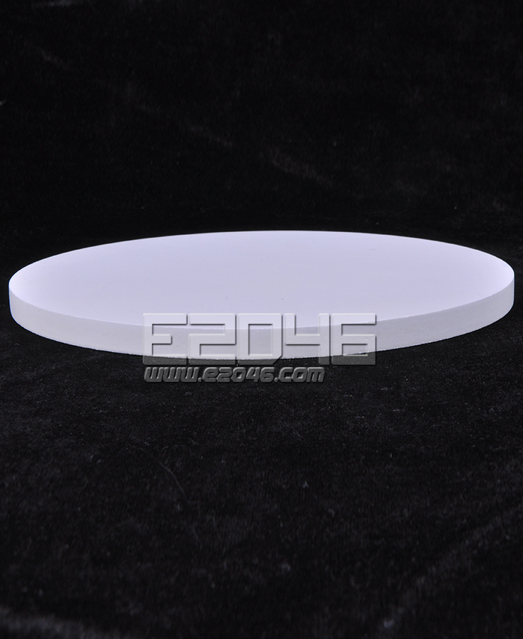 White Round Wooden Display Base D17