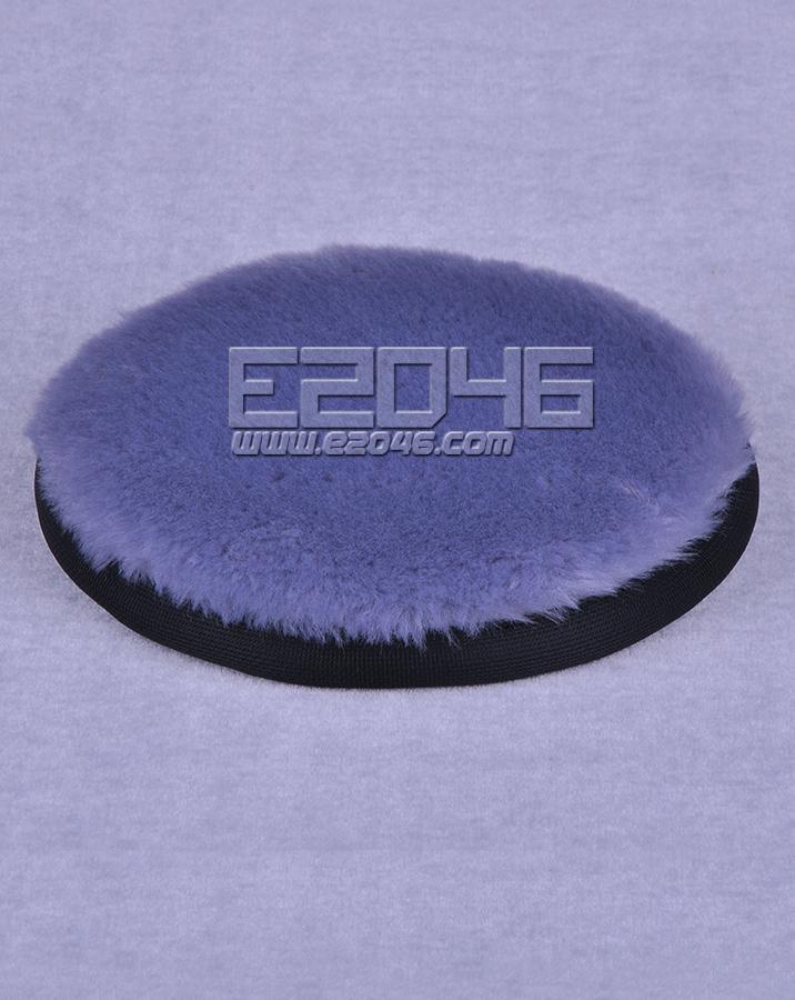 Grey Round Fluff Blanket D15