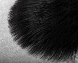 AC2398  Black Round Fluff Blanket D20