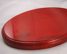AC1354  Wooden Base Shiny Surface Oval Shape L29