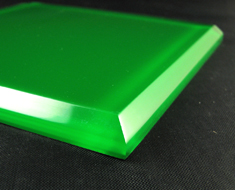 AC1750  Acrylic Square L14 Green Bottom Base