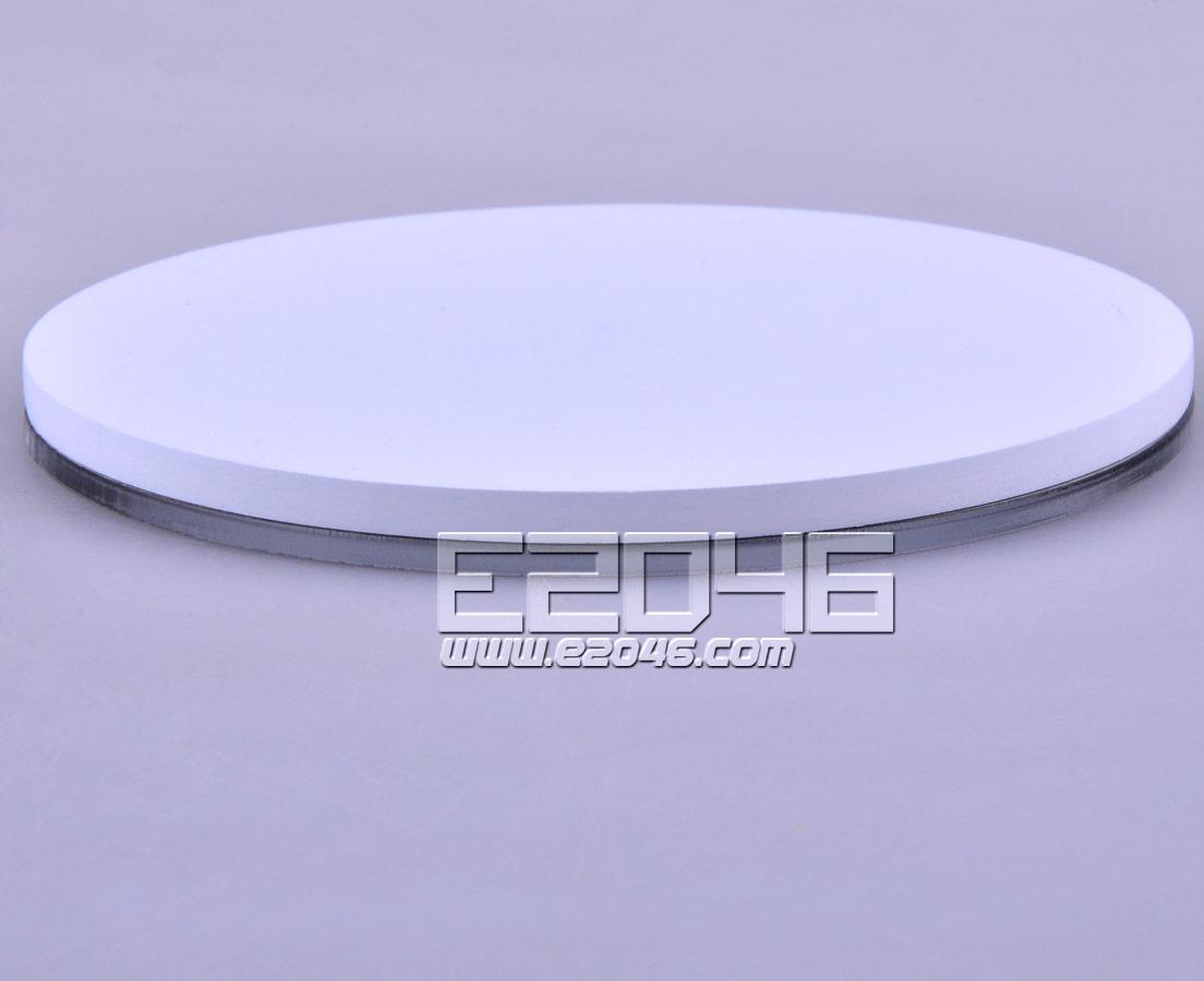 镜面白色圆形木展示台 D10