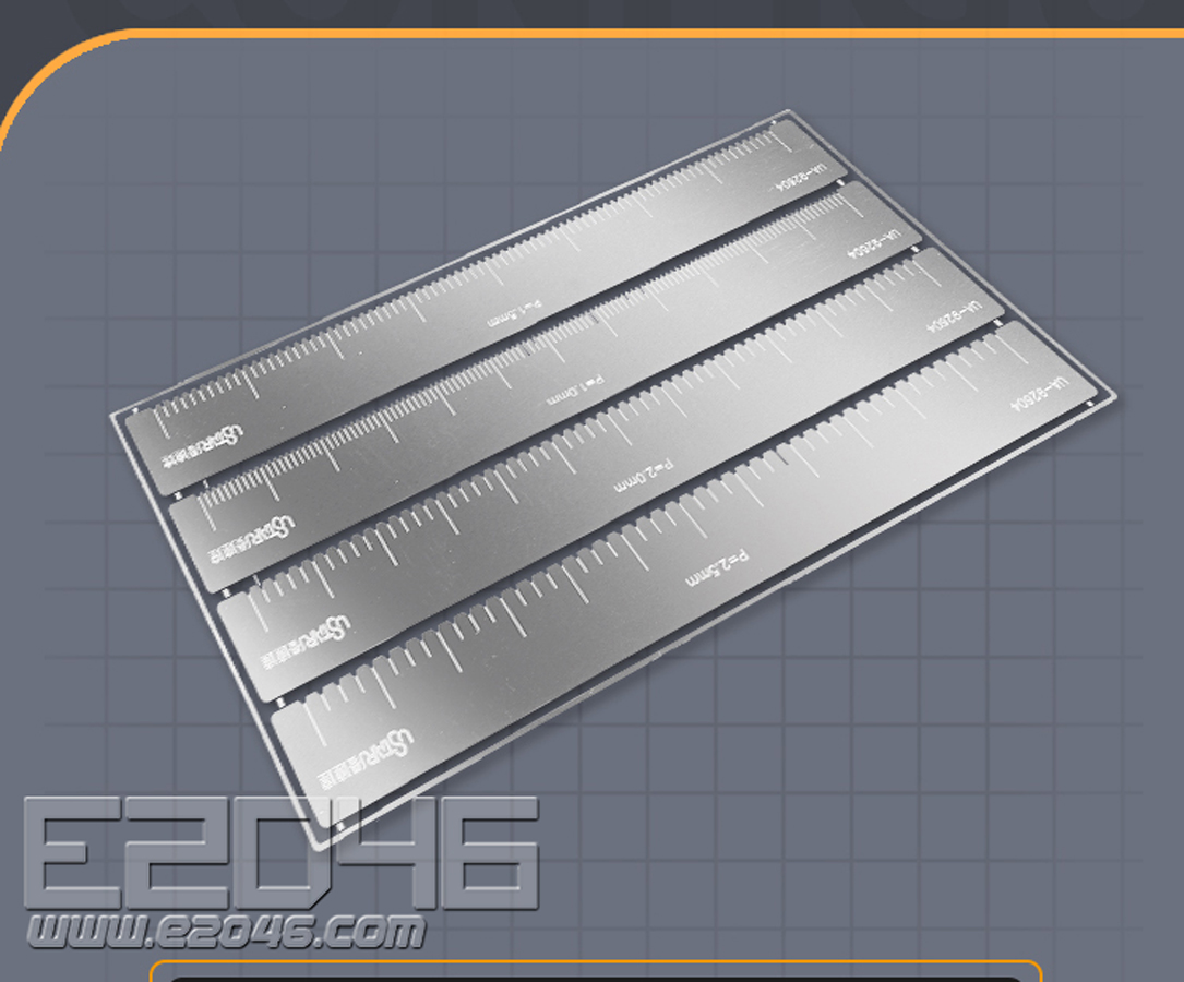 Etching Part Hole Spacing Ruler for Plane Using