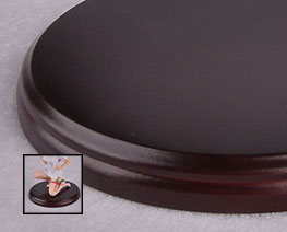 AC2219  Brown Round Wooden Display Base D12