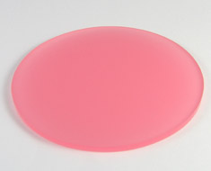 AC1356  Acrylic Display Base Round D9 Semi-transparent Pink color