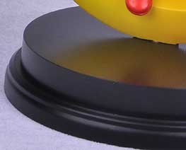 AC2324  Black Round Plinth Wooden Display Base D15