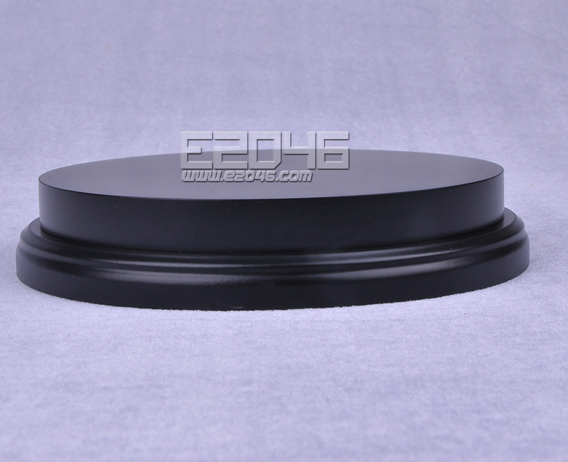 Black Round Plinth Wooden Display Base D15