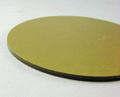 AC1745  Acrylic Display Base Round D9 Gold