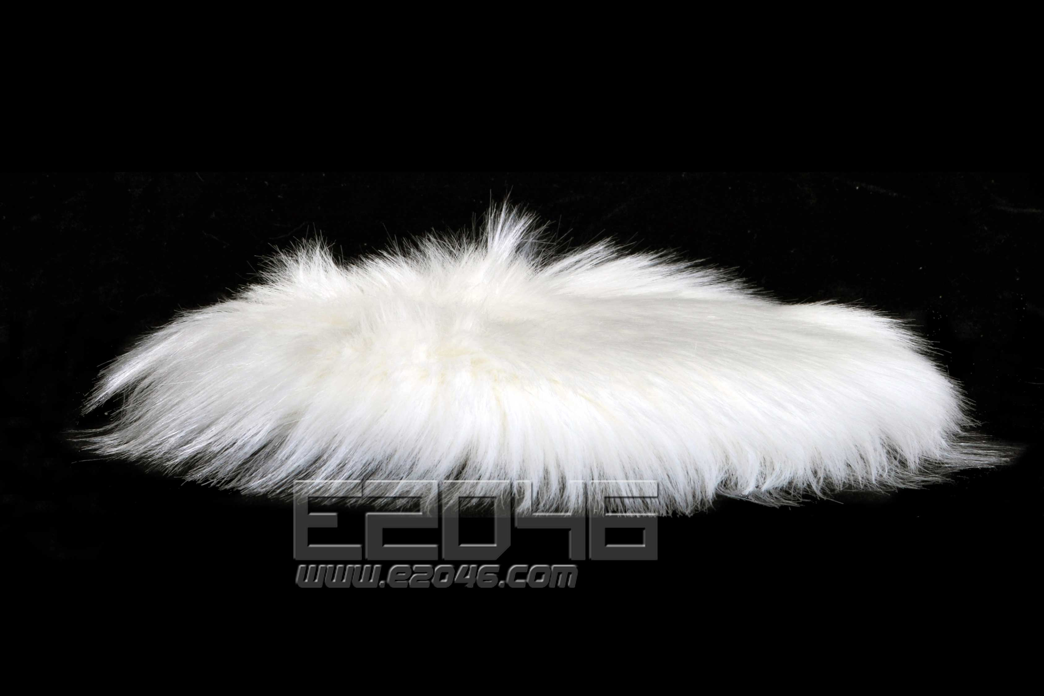 White Round Fluff Blanket D20