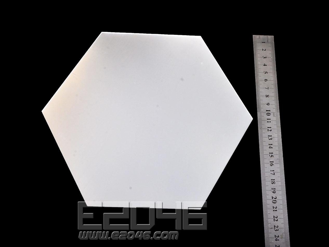 鏡面六邊形壓克力展示台 L24