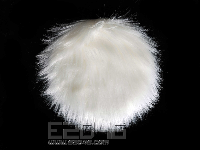 White Round Fluff Blanket D25