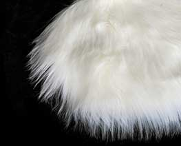 AC2399  White Round Fluff Blanket D25