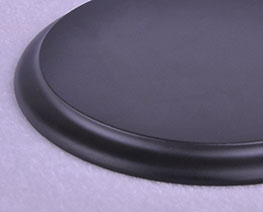 AC2368  Black Round Wooden Display Base D12