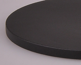 AC2187  Black Round Wooden Display Base D10