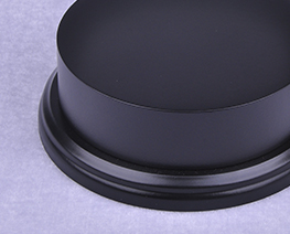 AC2310  Black Round Plinth Wooden Display Base D11