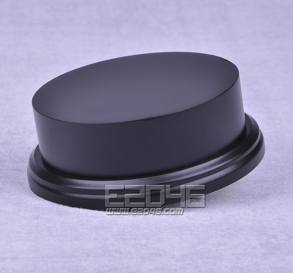 Black Round Plinth Wooden Display Base D11