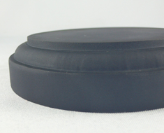 AC1704  Frosted Surface Acrylic Base Round D11 Black