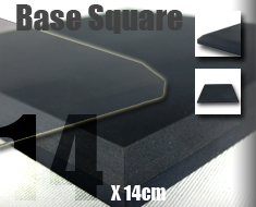 AC1706  Frosted Surface Acrylic Base Square L14 Black