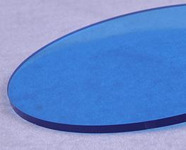 AC2336  淺藍色透明圓形壓克力展示台 D15
