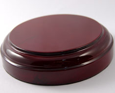 AC0675  Wooden Base Shiny Surface Round D11