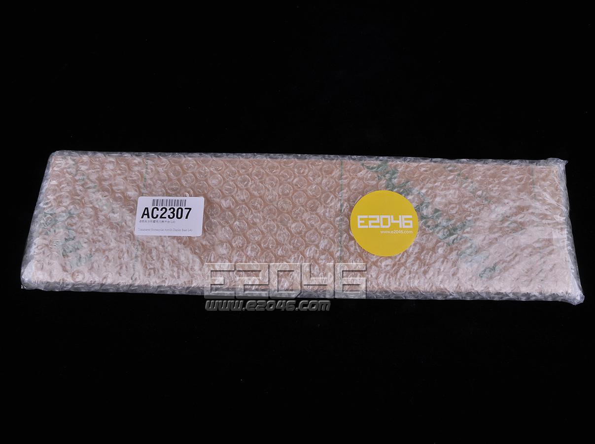 Transparent Rectangular Acrylic Display Base L40