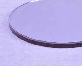 AC2279  Mirrored Brown Round Wooden Display Base D12