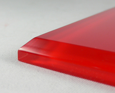 AC1707  Acrylic Square L14 Red Bottom Base