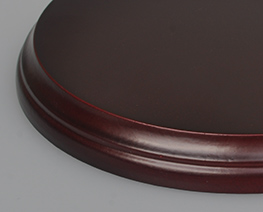 AC2055  Brown Round Wooden Display Base D15