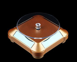 AC2650  Golden Rounded Auto Rotating Display Base D9