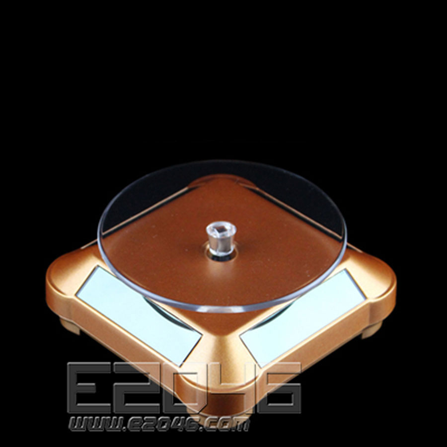 Golden Rounded Auto Rotating Display Base D9