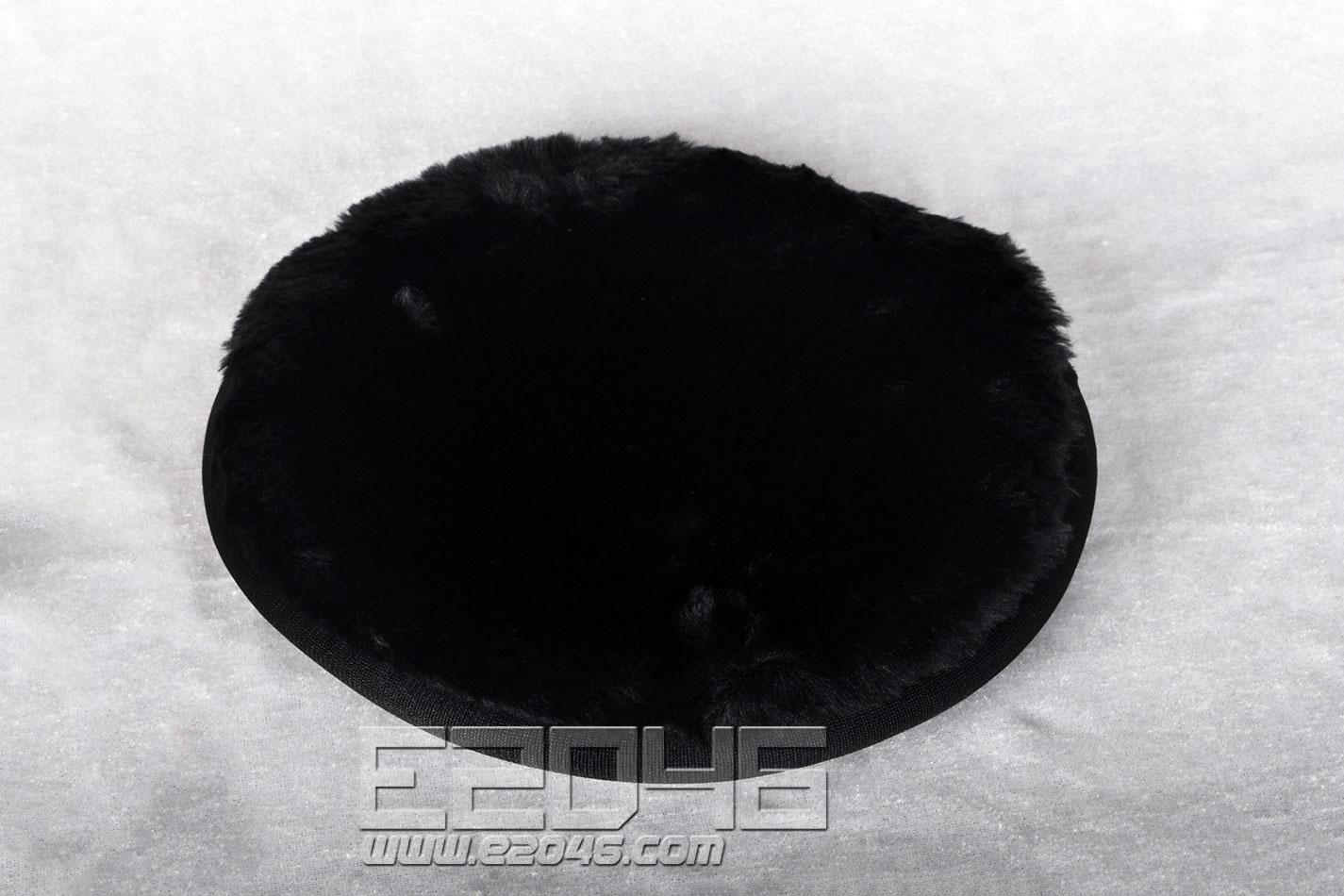 黑色圆形毛绒软布 D20