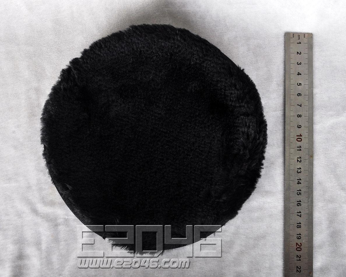 Black Round Fluff Blanket D20