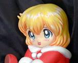 FG1728  SD X'mas Girl with Gift Box